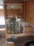 Roterande glasskåp