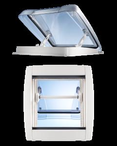 Taklucka Vision Star M 40x40 rökf.glas med myggnät & rullgardin